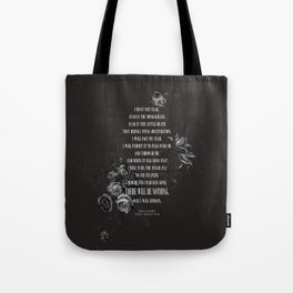 Bene Gesserit Litany Against Fear Tote Bag