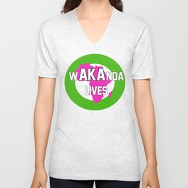 Wakanda Lives Unisex V-Neck