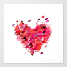 Heart1 Red Canvas Print