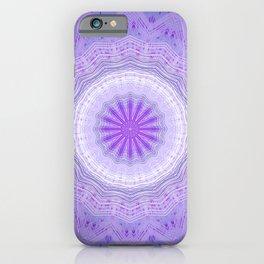 Dark Purple Mandala Design iPhone Case