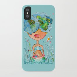 blue girl -- she's a gentle one. iPhone Case
