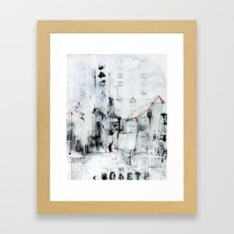 I digress. Framed Art Print