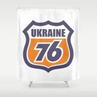 ukraine Shower Curtains featuring DgM UKRAINE 76 by DgMa