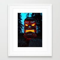 returns Framed Art Prints featuring Tiki returns by Vorona Photography