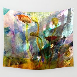 flowers on the field Wall Tapestry