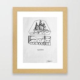 typodont. Framed Art Print