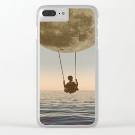 DREAM BIG/MOON CHILD SWING Clear iPhone Case