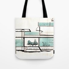 octopus architecture Tote Bag