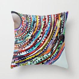 Color Vortex Throw Pillow