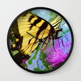 Yellow butterfly beauty 2 Wall Clock