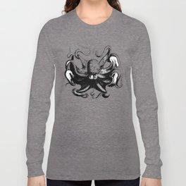 Cool Aqua animal Octopus sketch Long Sleeve T-shirt