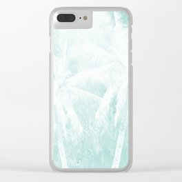 Design 54 Palm Trees Clear iPhone Case