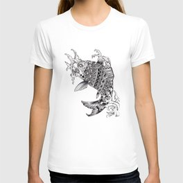 Ornate Mandala Koi Design T-shirt