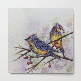 Love Birds 2   oiseaux amoureux 2 Metal Print
