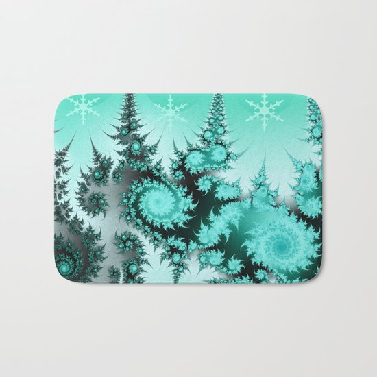 Winter magic in soft blue Bath Mat