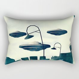 UFO Invasion Rectangular Pillow