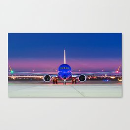Face to face with a Boeing 737 Max 8 Canvas Print