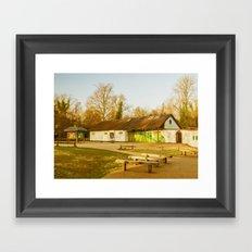 Cafe Box Hill Surrey Framed Art Print