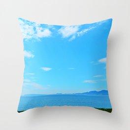 Perce Coast and Rock Throw Pillow