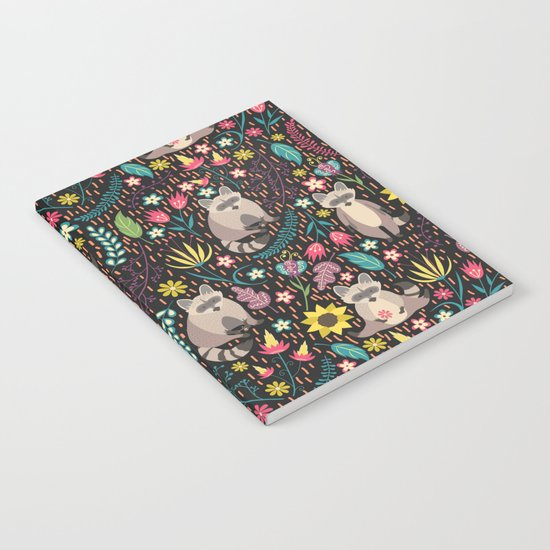 Raccoons bright pattern Notebook