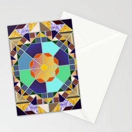 Octagonal geometric pattern abstract Stationery Cards