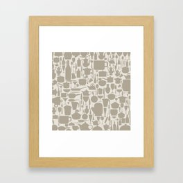 Background ware Framed Art Print