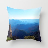 Throw Pillows featuring ombre layers canyon by Mackenzie Leigh