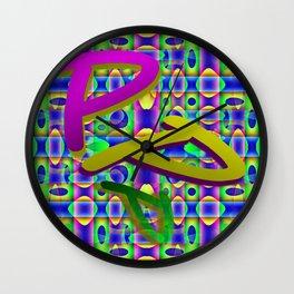 P - pattern b Wall Clock