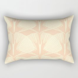 ginkgo leaf pattern in vintage pink Rectangular Pillow