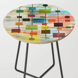 Mid-Century Modern Art 1.3 -  Graffiti Style Side Table