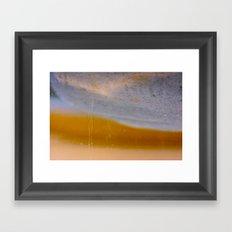 gold cave Framed Art Print