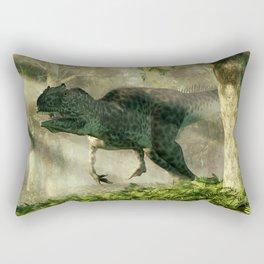 Allosaurus in a Forest Rectangular Pillow