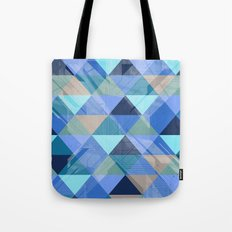 Triangles Blues  Tote Bag