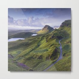 The Road to the Quiraing Metal Print