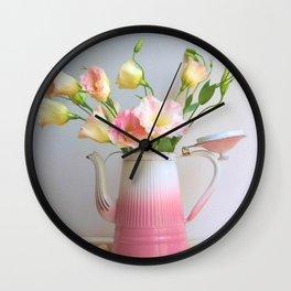 Coffee, Tea or Flowers Wall Clock