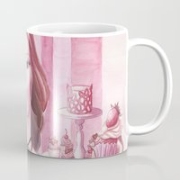 gemma Mugs featuring Gemma: Girl and the cupcakes by Thien_Venus_Milo