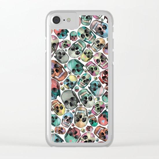 Skulls Clear iPhone Case