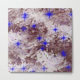 Texture Art - Stars and Bubbles Metal Print