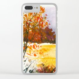Whispering Grove, Watercolor Landscape Art Clear iPhone Case