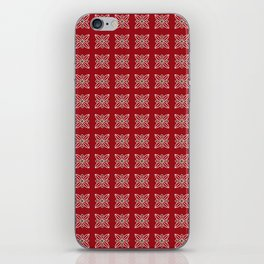 Christmas paper pattern iPhone Skin