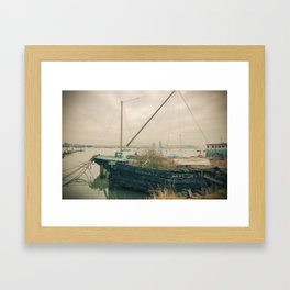 Abandoned boat Framed Art Print
