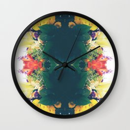 Summer Bouquet Psychedelia 2012 Wall Clock