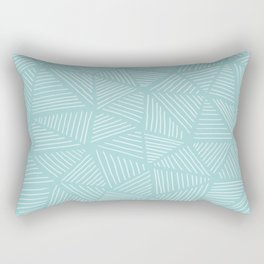 Powder Blue Triangles Rectangular Pillow