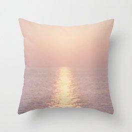 cashmere rose sunset Throw Pillow