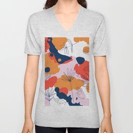 Creation #abstract #digitalart #human Unisex V-Neck
