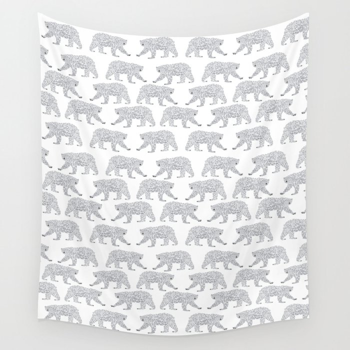 Polar Bears Geometric Trendy Kids Bear Pattern Print For Boy Or Girl