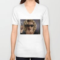 river song V-neck T-shirts featuring River Song (Doctor Who) by San Fernandez