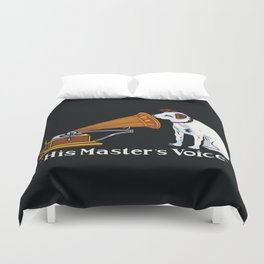 Retro his master's voice, Nipper the Dog Duvet Cover