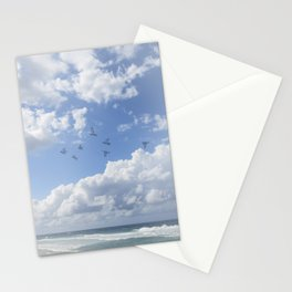 Window Curtains - Flying Away Stationery Cards