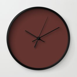 After Silence, Music ~ Reddish Brown Wall Clock